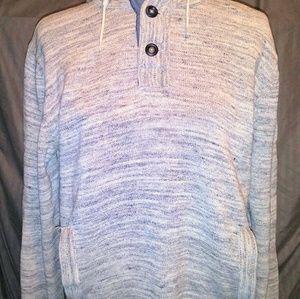 ☀Men's Hooded 3 Button Sweatshirt Sz. L☀